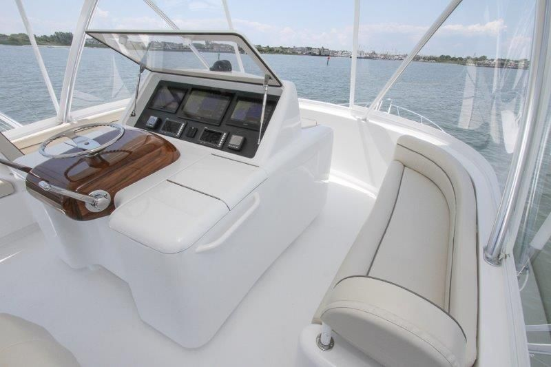 2020 Viking 52 Convertible - Deck 4 - Helm Deck Seating