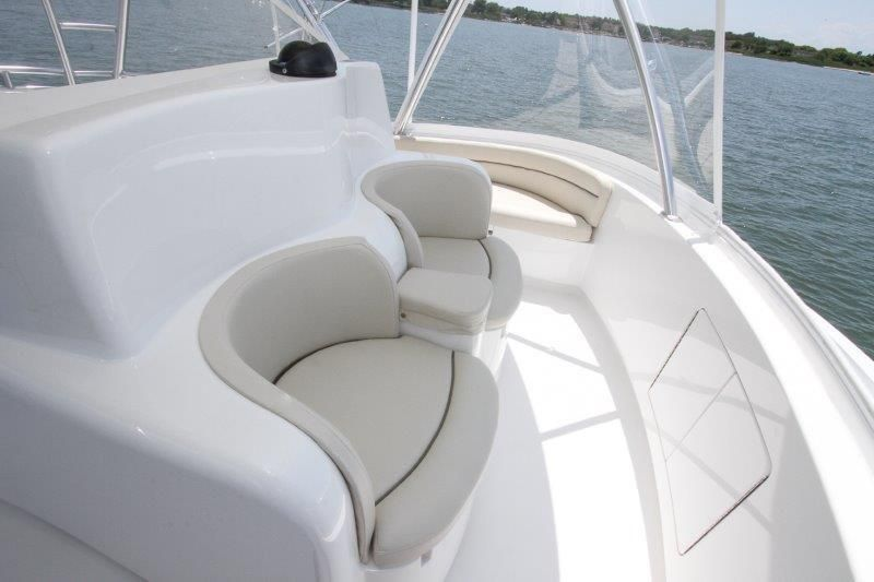 2020 Viking 52 Convertible - Deck 3 - Helm Deck Seating