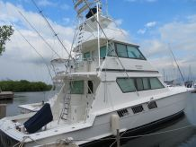 1996 Hatteras 65 Convertible Enclosed Bridge