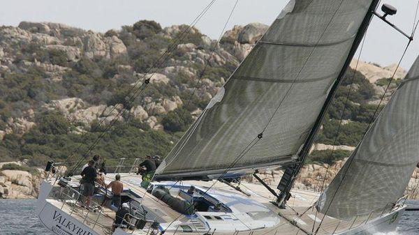 Nautor's Swan 78 Port tack sailing