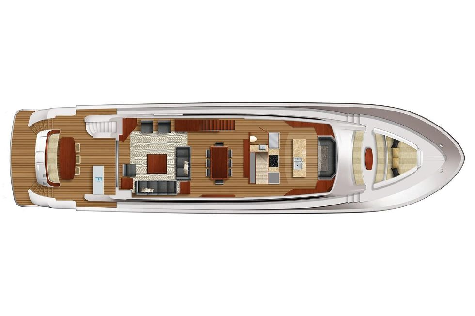 2018 Hatteras M90 Panacera - Main deck Floor-Plan