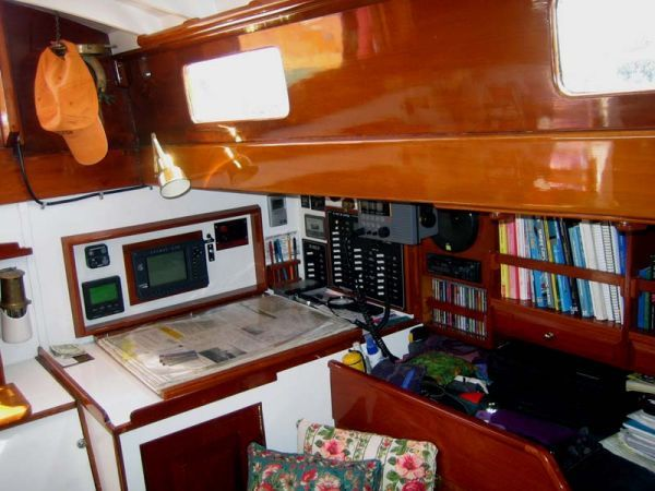Nav Station, Port Aft Corner of Main Saloon