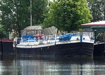 1910 Barge Converted Steel Canal Boat