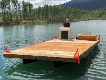 1991 Boatel pontoon barge