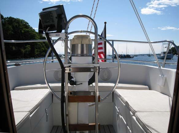 Facing Aft from Companionway