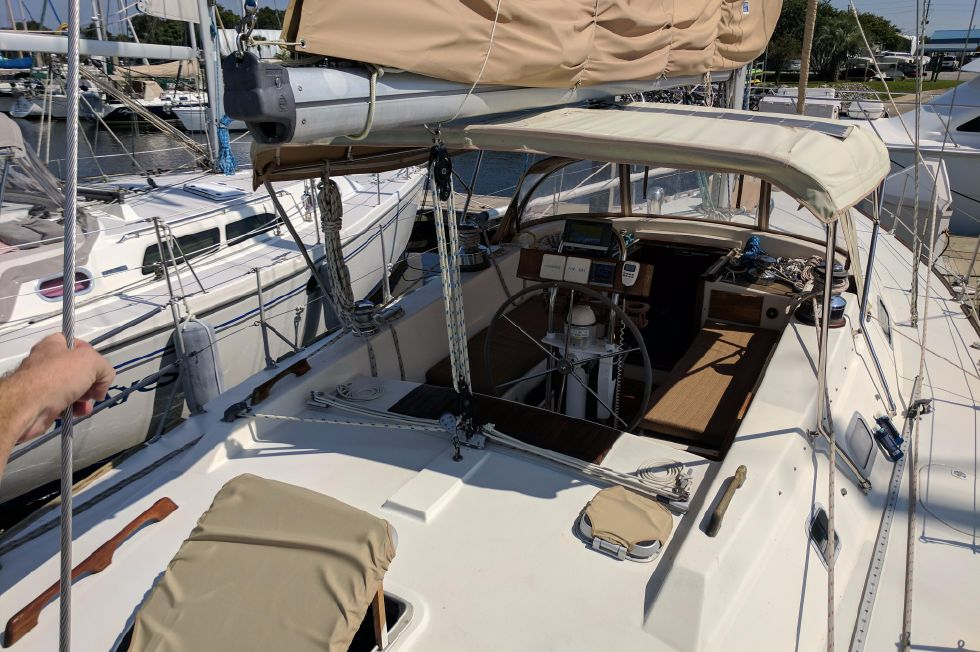 1984 Westerly Sealord 39 - View from Aft Deck
