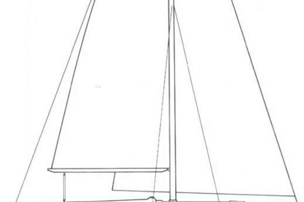 1984 Westerly Sealord 39 - Line Drawing
