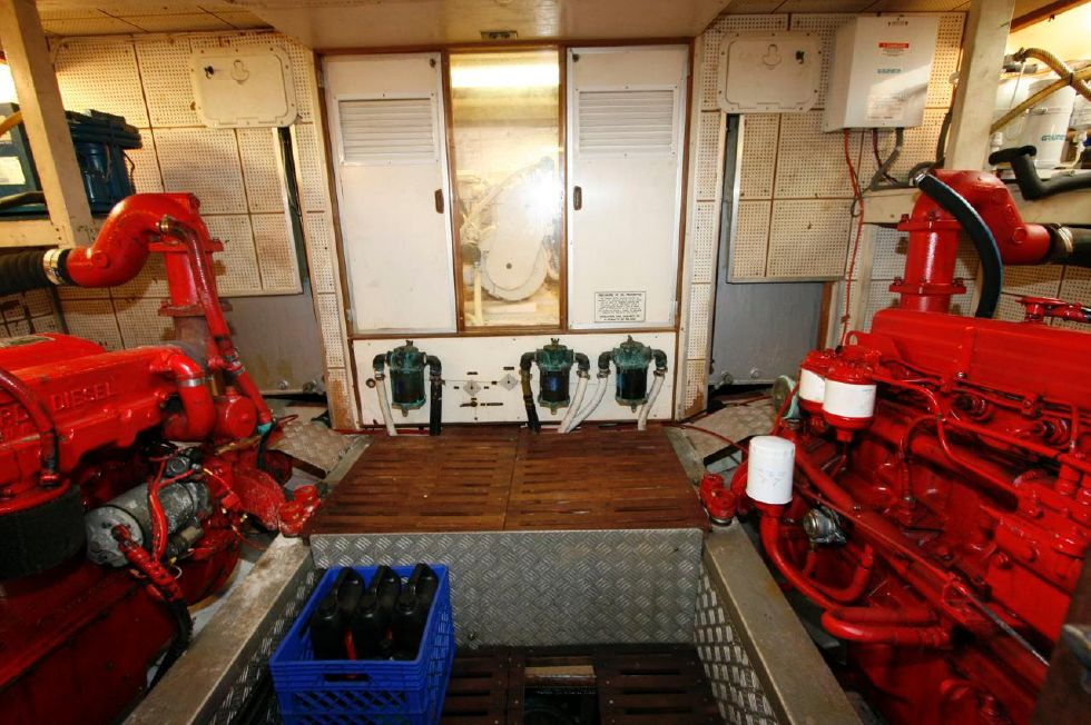 1980 Grand Banks 49 Classic - Engine Room w/soundproofed Generator Room
