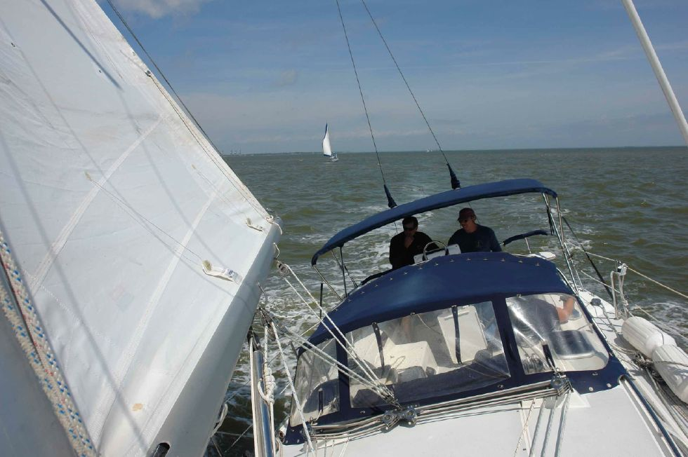 Under Sail Looking Aft