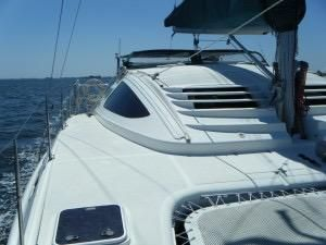1999 Island Spirit 37 Catamaran - Looking aft
