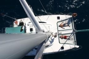1999 Island Spirit 37 Catamaran - Bird eye view