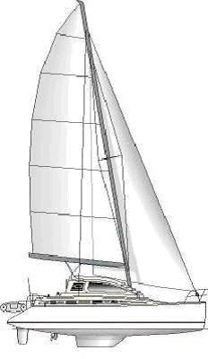 1999 Island Spirit 37 Catamaran - Sailplan