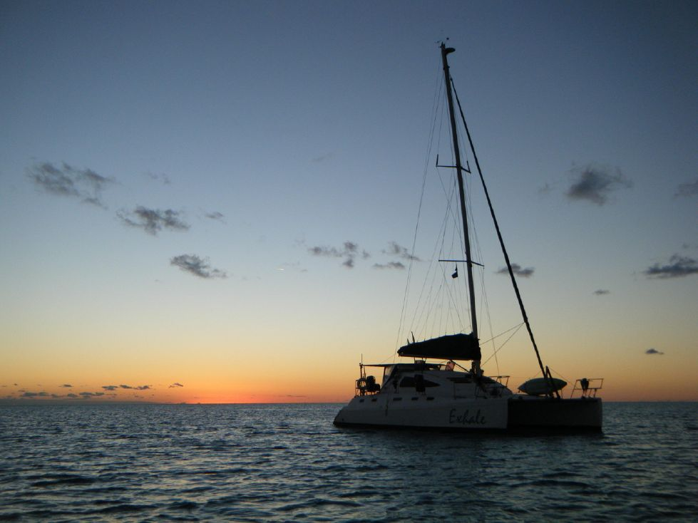 1999 Island Spirit 37 Catamaran - Sunset on Exhale!