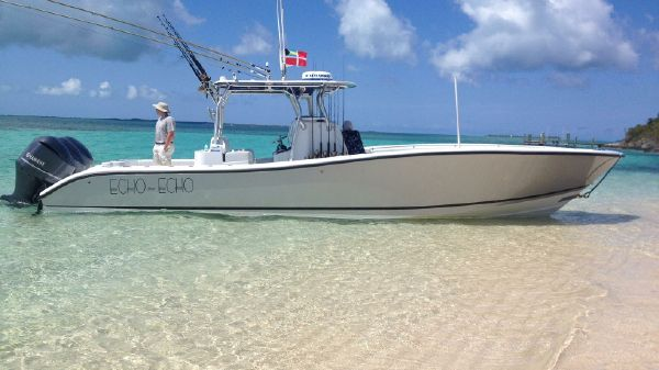 Yellowfin 36 Offshore w/HELM MASTER Starboard Profile
