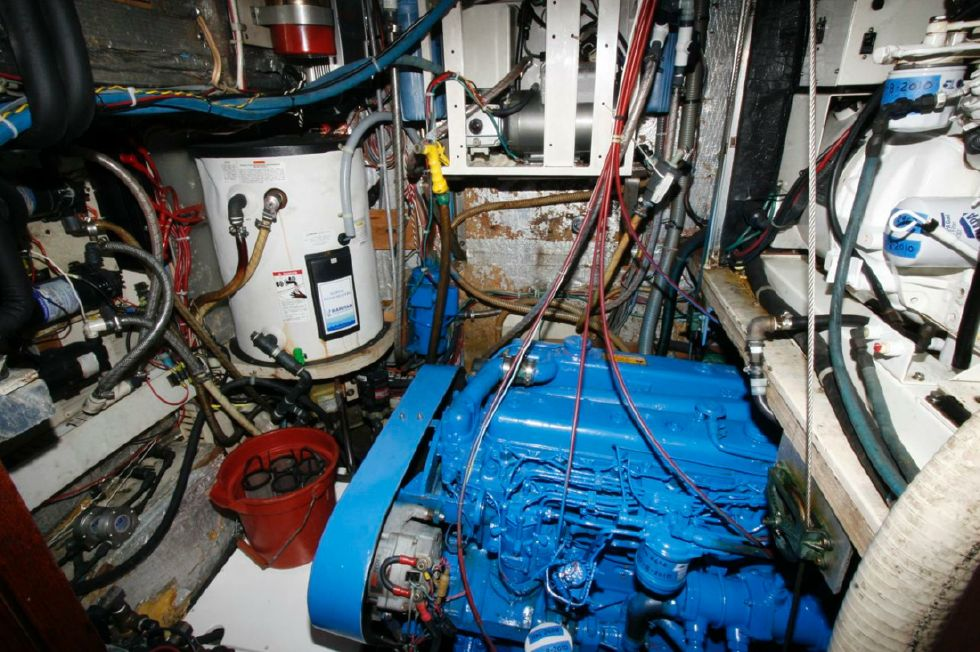 Engine Room w/hot water heater