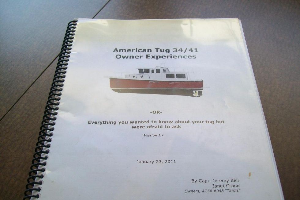 34 American Tug, Owner Experience Manual