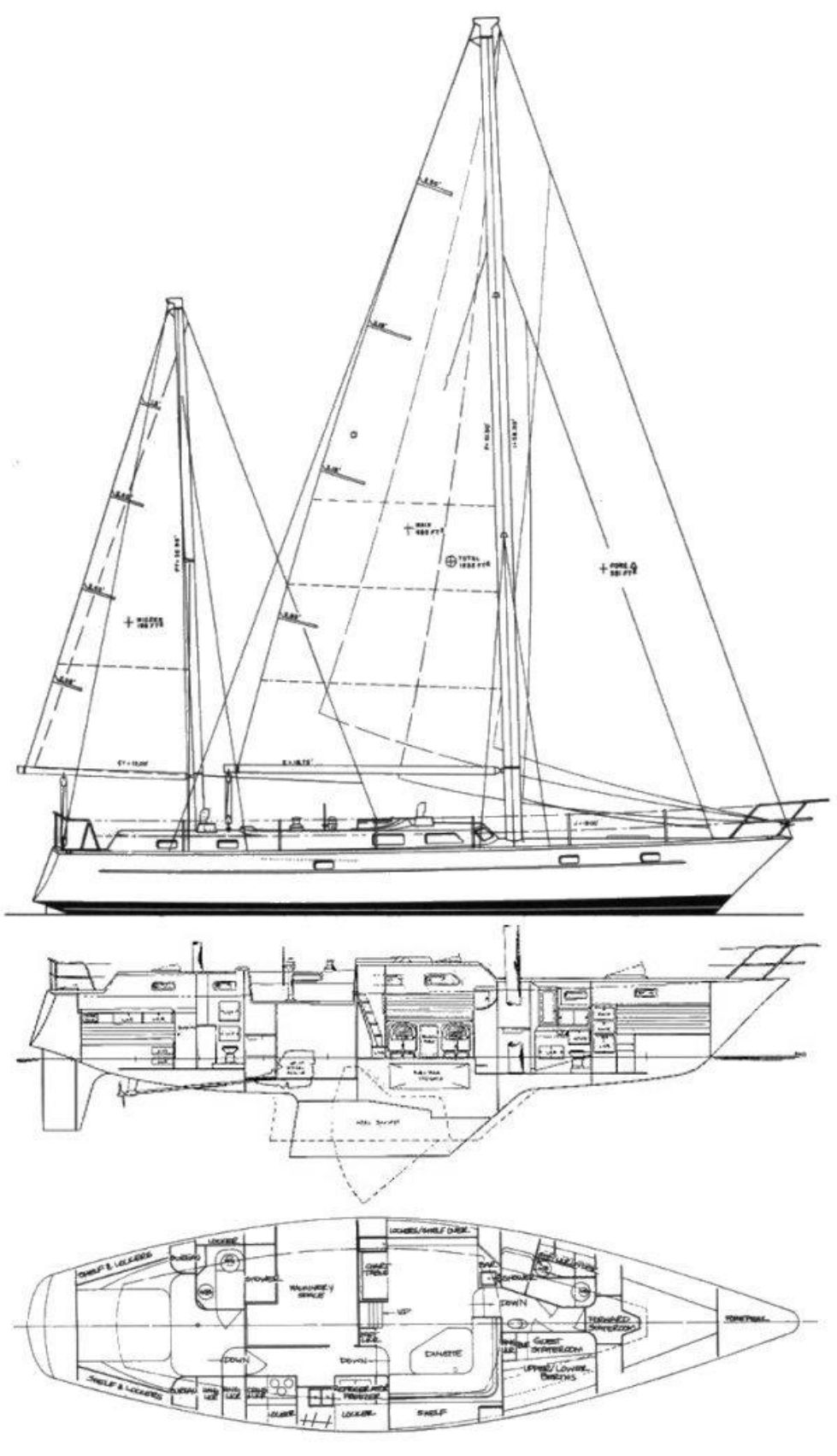 1981 Pearson 530 Edwards Yacht Sales Bill Shaw Design