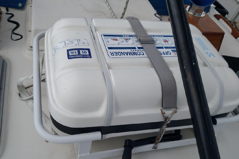 1981 Pearson 530 Edwards Yacht Sales Brand New Liferaft