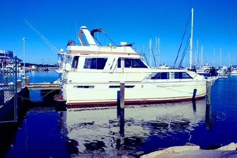 1985 Chris-Craft 500 Constellation - Starboard Profile (prior to move to Nashville)
