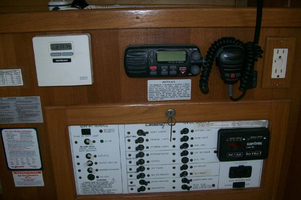 36 Catalina Panel, A/C Control, and VHF
