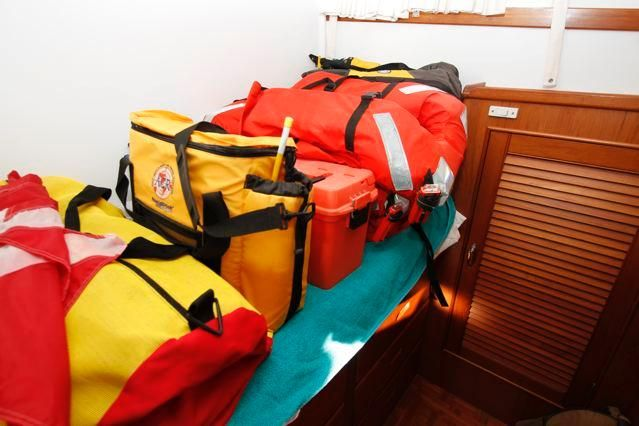 1988 Grand Banks 49 Classic - Grand Banks 49 Safety Equip stored in 3rd Stateroom