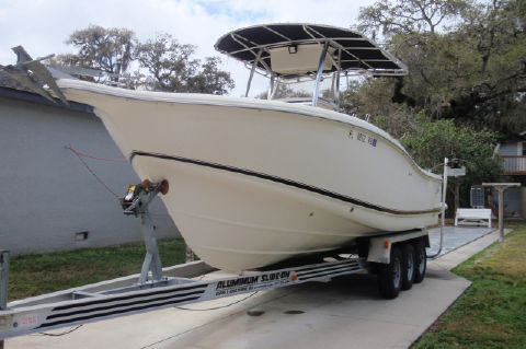 2001 Scout 280 Sportfish - Port Bow and Triple Axle Trailer