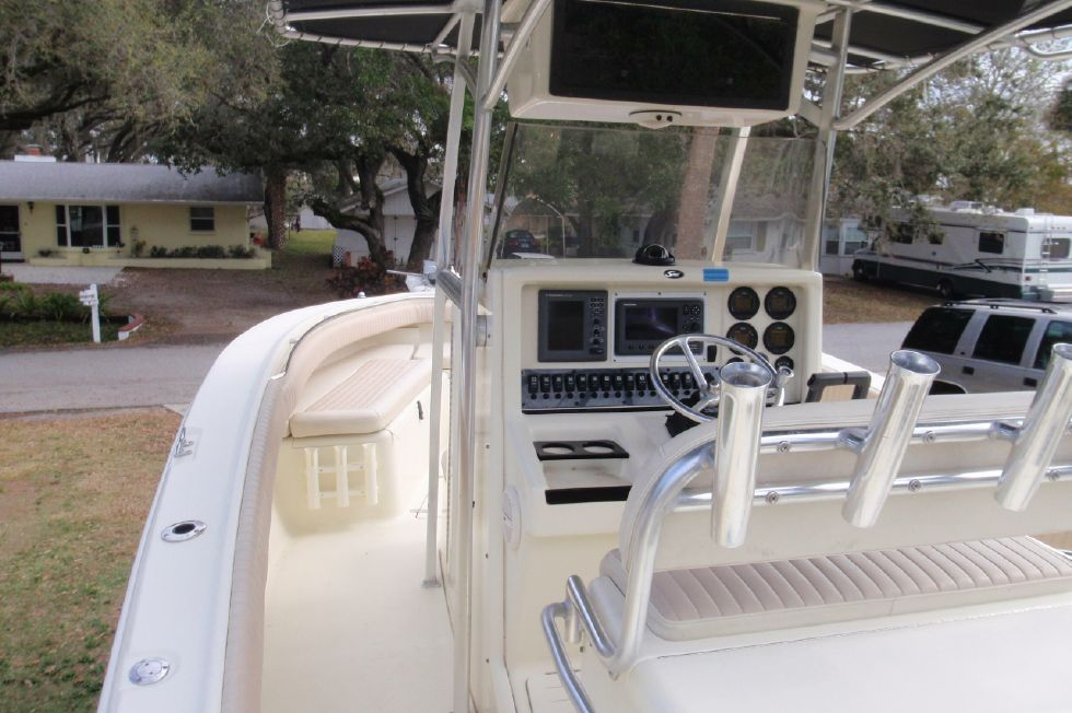 2001 Scout 280 Sportfish - Aft Looking Forward on the Port Side
