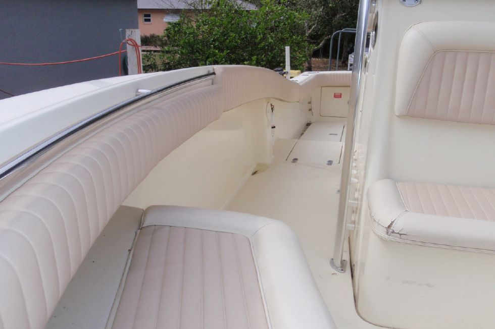 2001 Scout 280 Sportfish - Forward Looking Back Down the Starboard Side