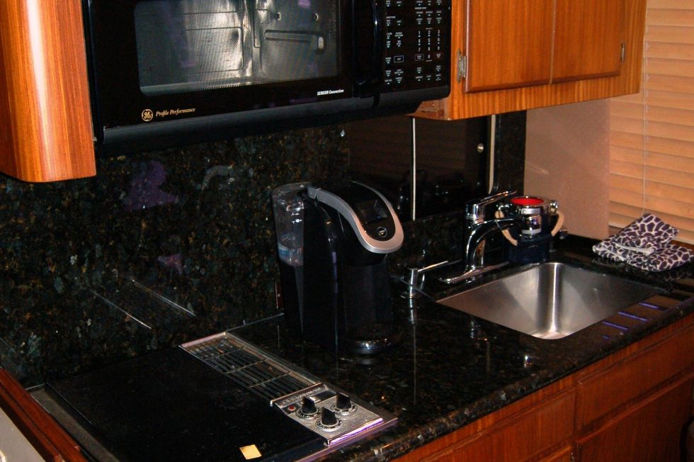 Galley Sink, Cooktop and Microwave