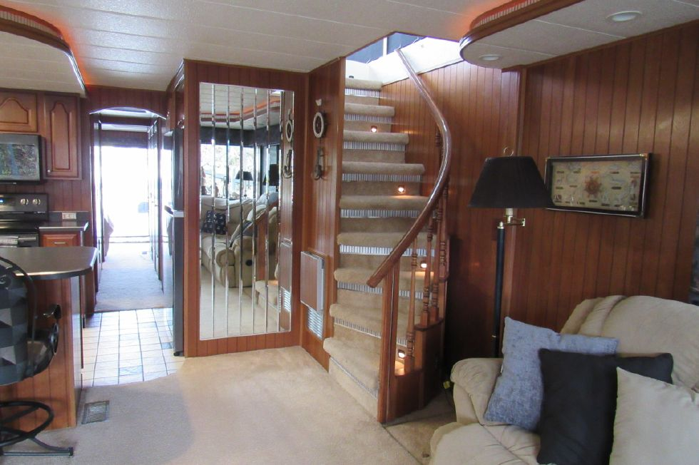 Stairs to Upper Level Looking Aft