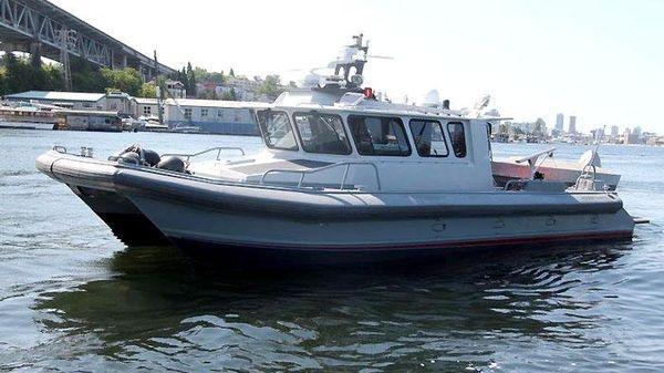 Moose Boats Inc. M1 44 Custom Aluminum Cat 44 Moose Aluminum Custom Cat - Exterior Forward Quarter