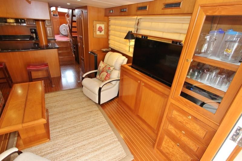 Salon Starboard with TV Lifted