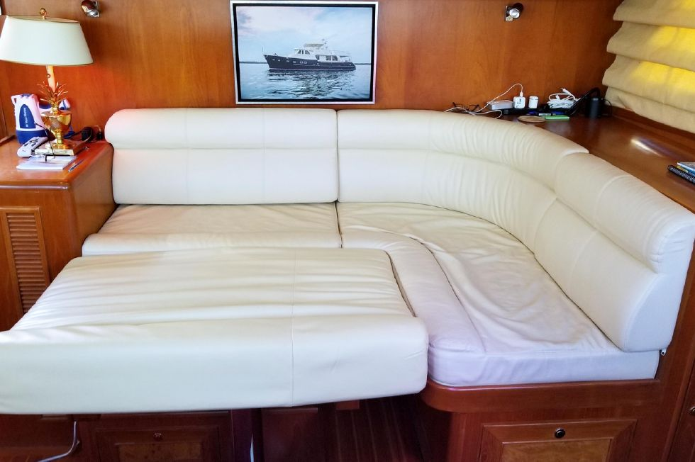 Pilothouse Settee Converted to Watch Berth