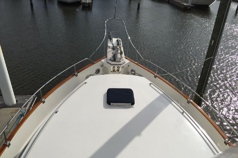 Bow - top of forward cabin house