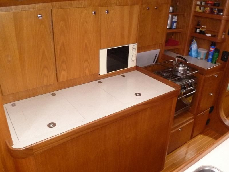 2008 Auzepy Brenneur Sloop - Auzepy Brenneur Sloop - New Galley Cabinets