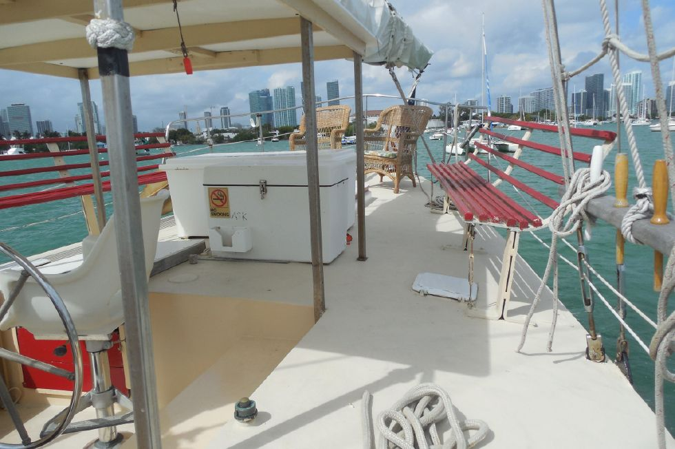 1984 Atlantic City Charter schooner - Covered helm