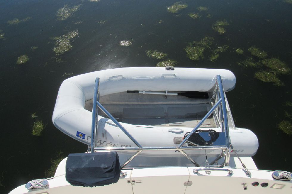 Ultra Lite Dinghy on Davits