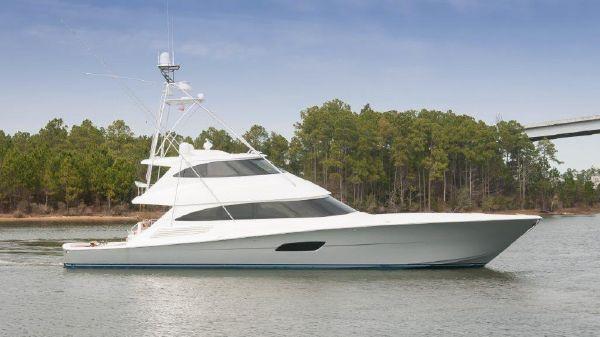 Viking 92 Enclosed Bridge Convertible Starboard Profile