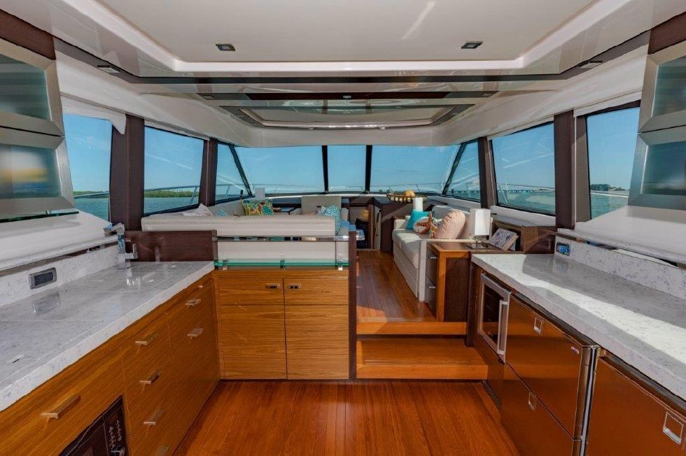 2017 Tiara FLybridge - Galley and Salon