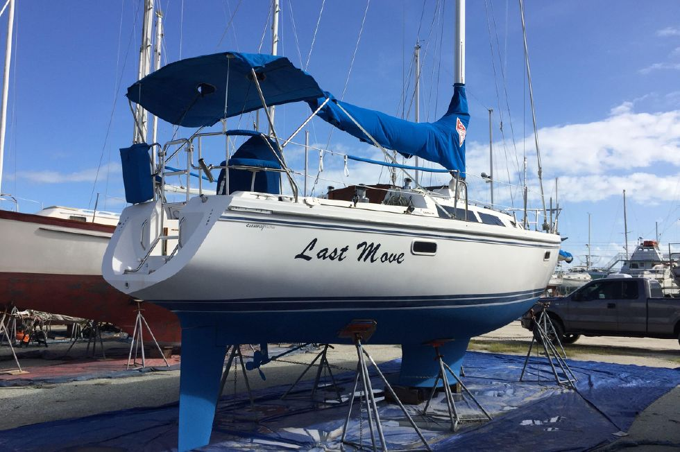 1993 Catalina 34 - Catalina 34 Haul Out Oct 2017