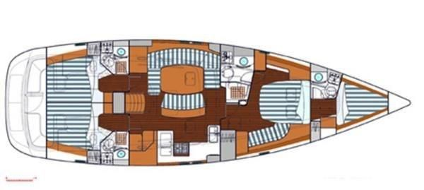 2005 Beneteau Oceanis - Manufacturers Image - Layout