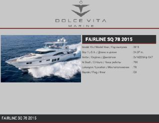 2015 Fairline Squadron 78