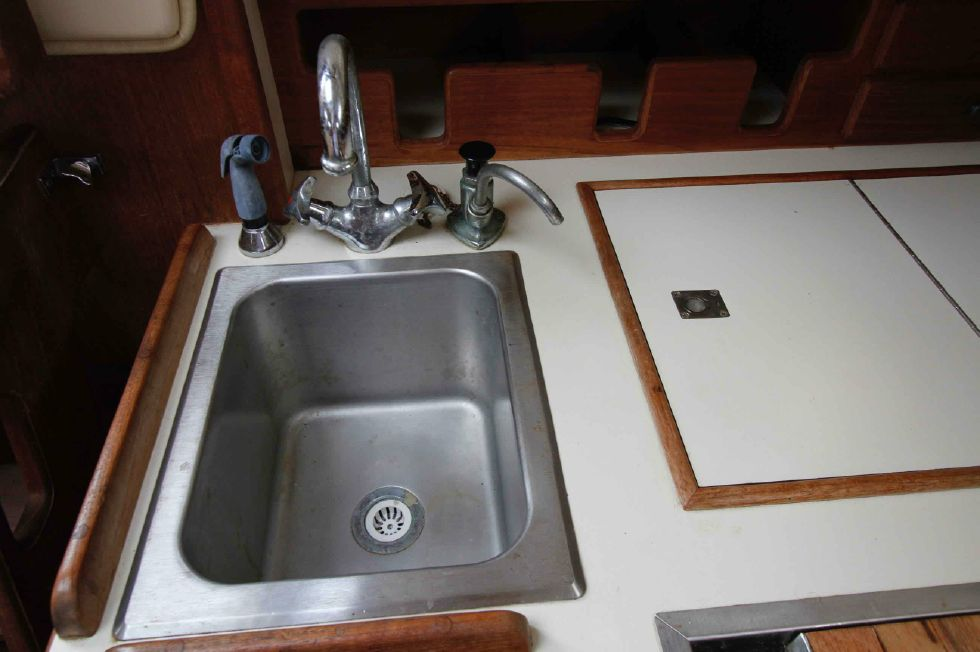 Island Packet 27 Stainless Sink