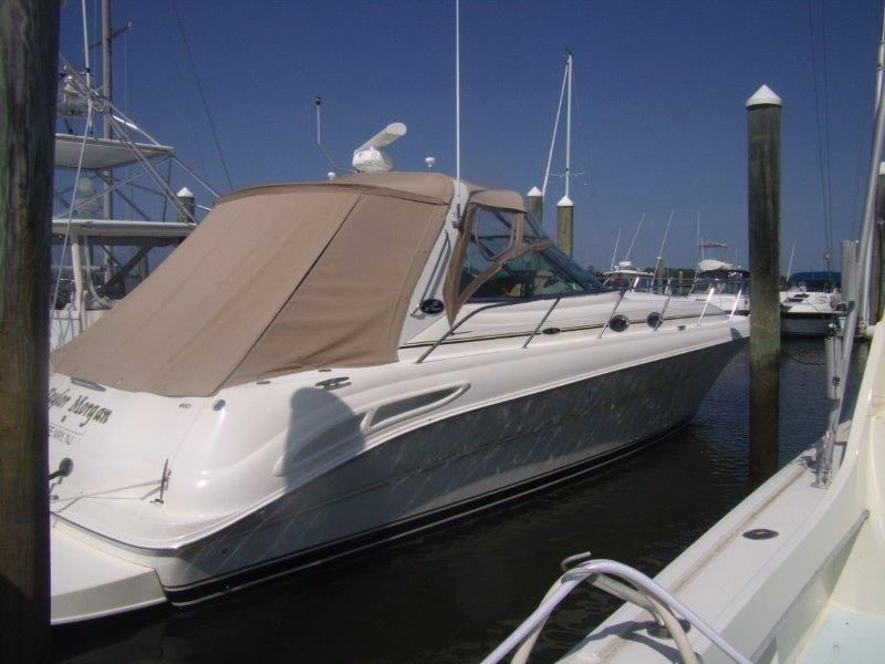 2002 Sea Ray 410 Express Cruiser - Profile 3 - With Cockpit Cover
