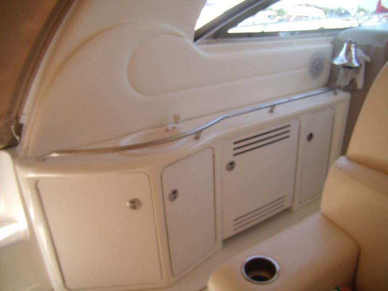 2002 Sea Ray 410 Express Cruiser - Deck 3 - Port Side Sink, Cabinets & Fridge