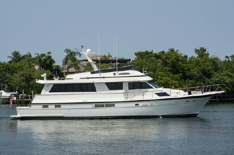 1989 Hatteras Cockpit Motor Yacht - Perfect Timing