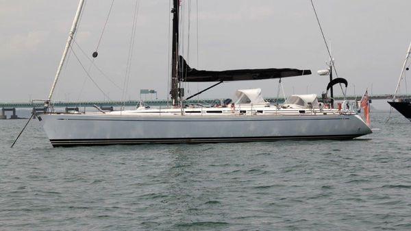 Nautor's Swan 56 At anchor