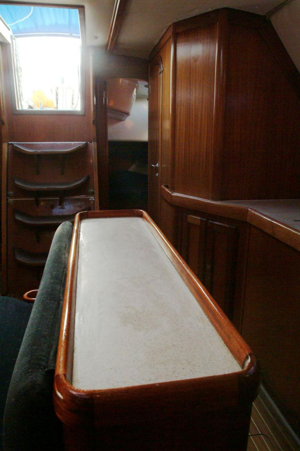 2000 Dufour 50 Classic - salon looking aft