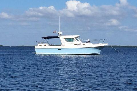 2004 Albin 30 Family Cruiser - Albin 30 FC At Anchor