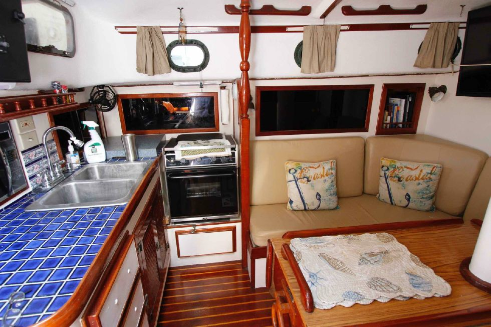 CSY 44 Galley and Port Settee